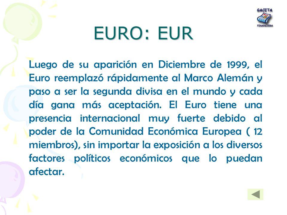 EURO: EUR