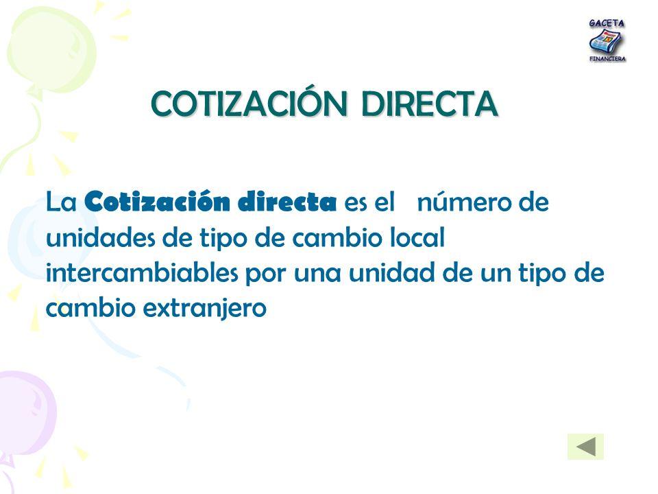 COTIZACIÓN DIRECTA