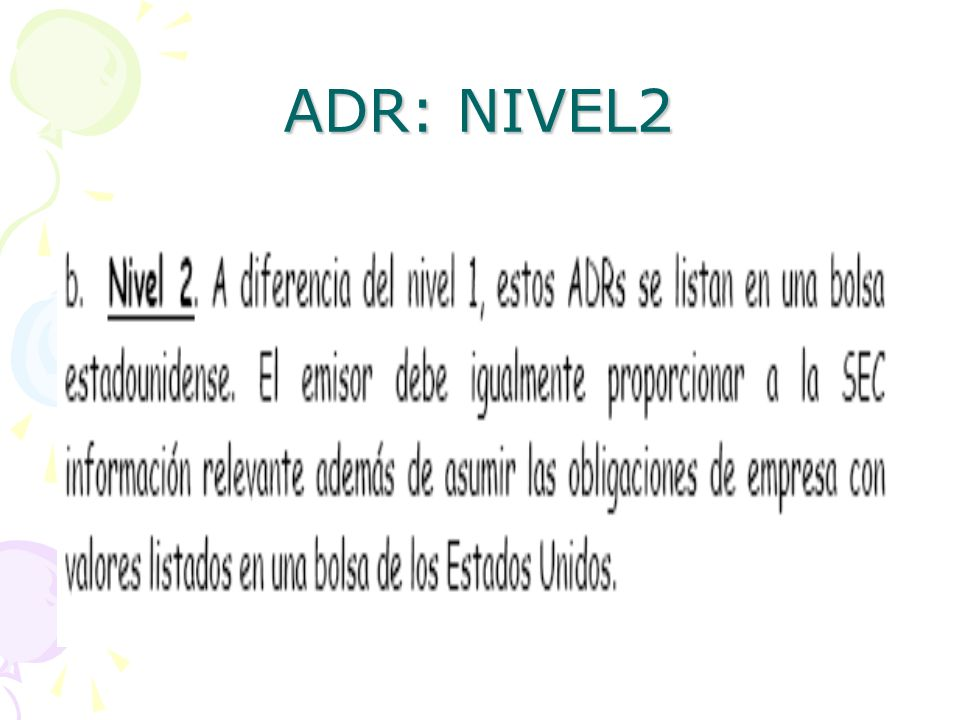 ADR: NIVEL2