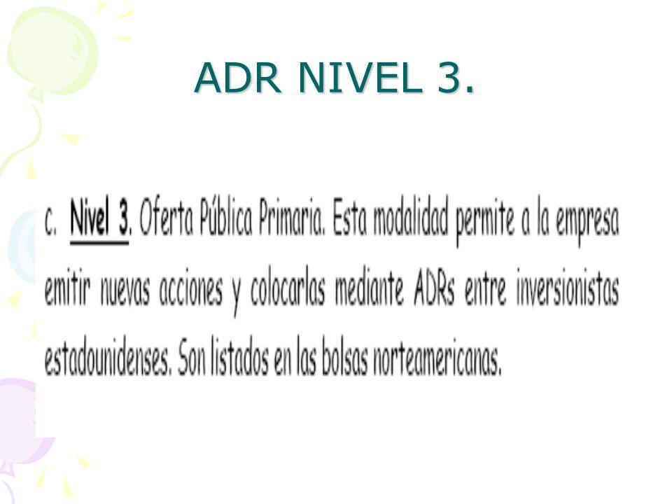 ADR NIVEL 3.