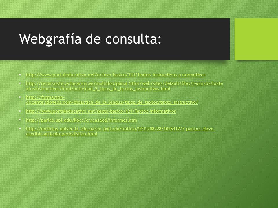 Webgrafía de consulta: