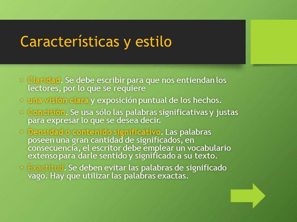 Características y estilo