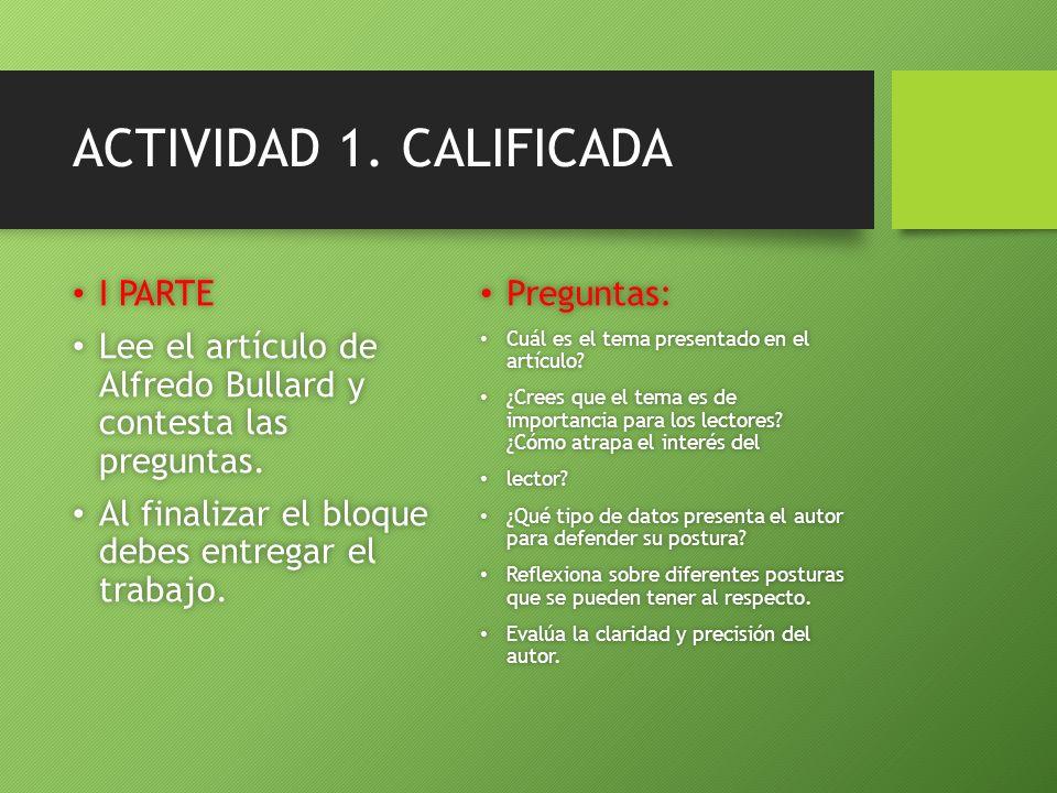ACTIVIDAD 1. CALIFICADA I PARTE