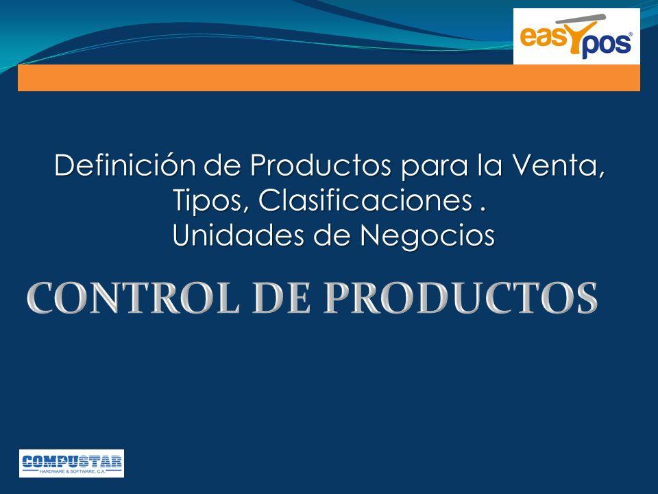 Definición de Productos para la Venta, Tipos, Clasificaciones .