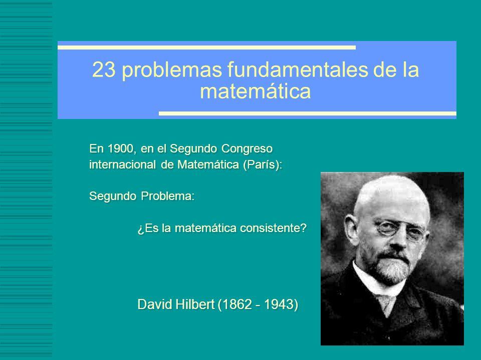 23 problemas fundamentales de la matemática