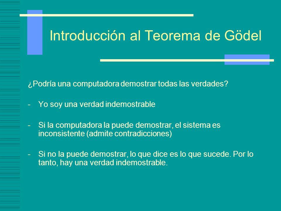 Introducción al Teorema de Gödel