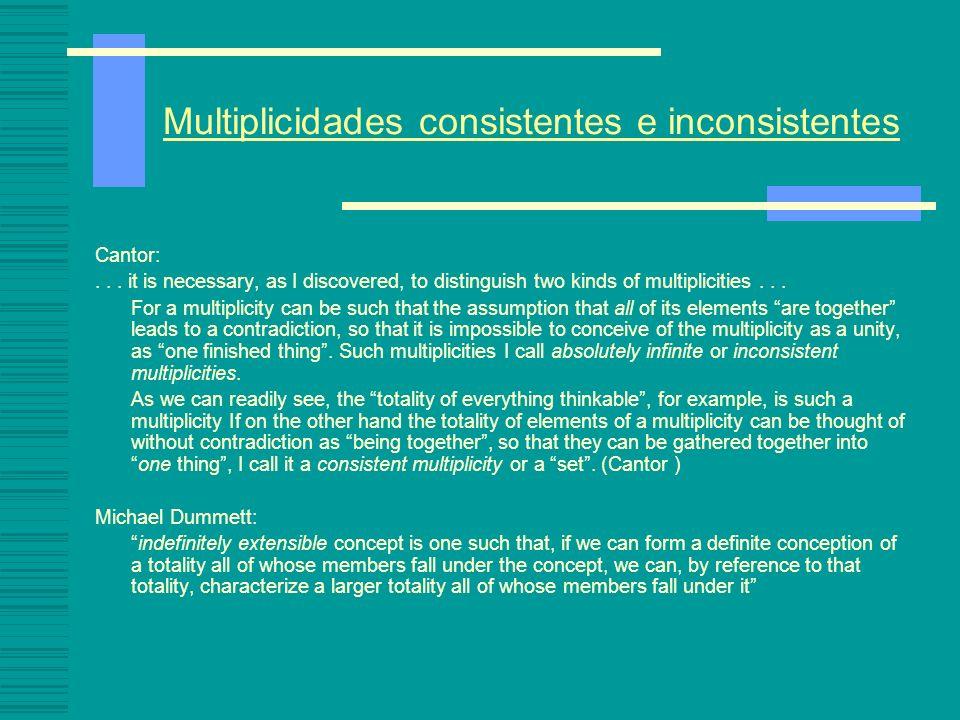 Multiplicidades consistentes e inconsistentes