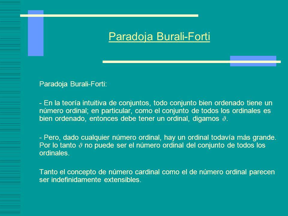 Paradoja Burali-Forti