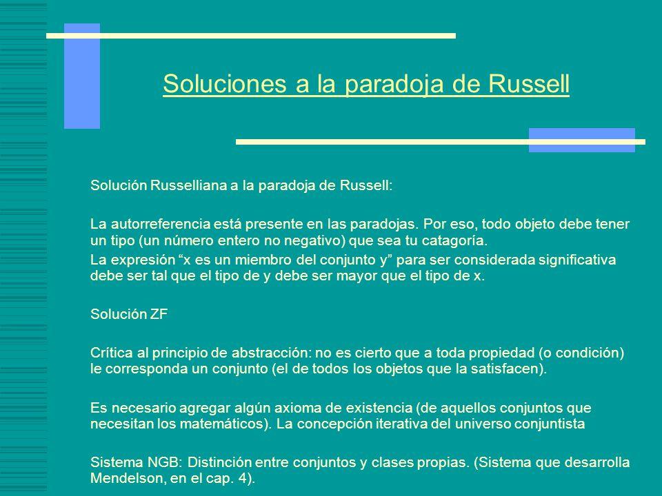Soluciones a la paradoja de Russell