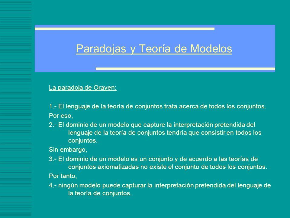 Paradojas y Teoría de Modelos