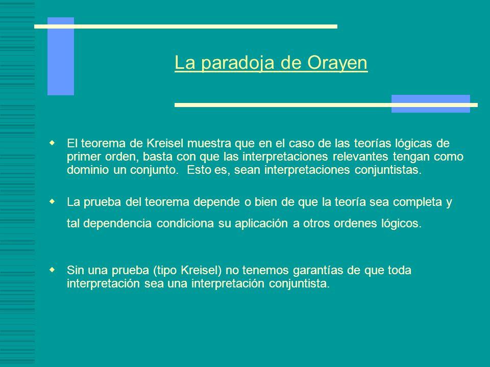 La paradoja de Orayen
