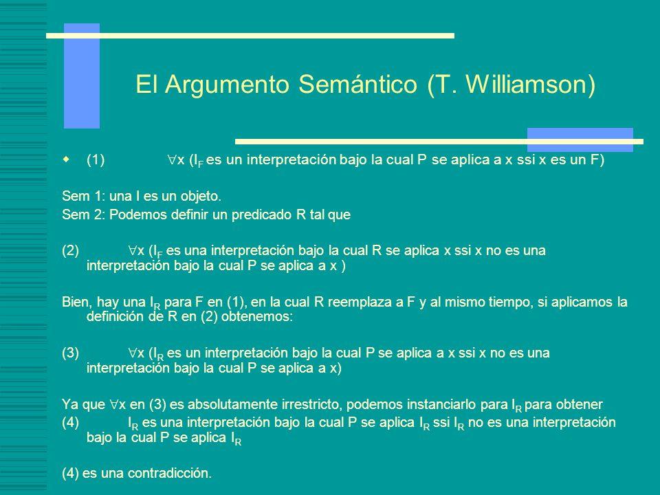 El Argumento Semántico (T. Williamson)