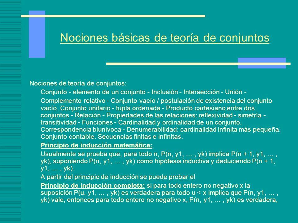 Nociones básicas de teoría de conjuntos