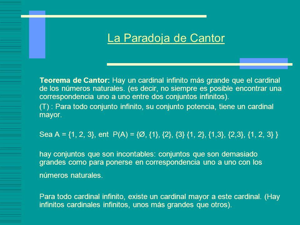 La Paradoja de Cantor