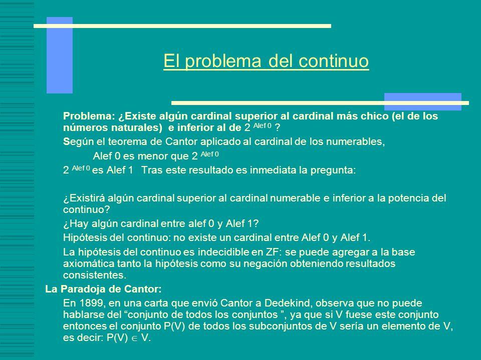 El problema del continuo