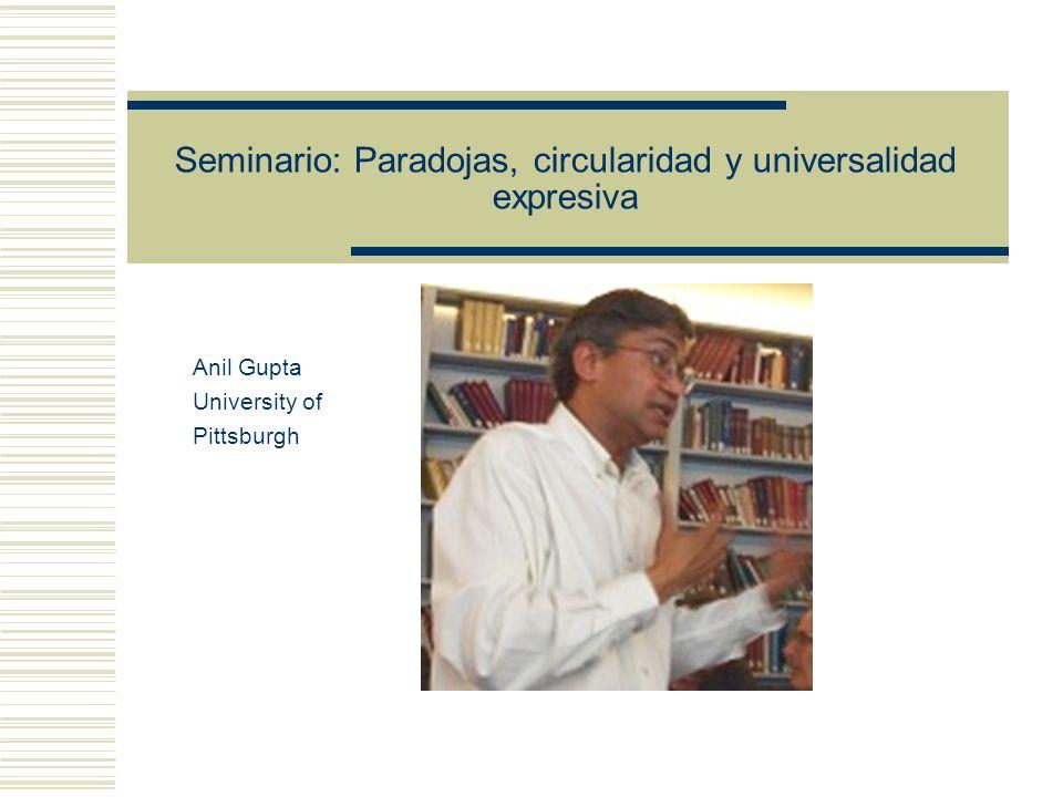 Seminario: Paradojas, circularidad y universalidad expresiva