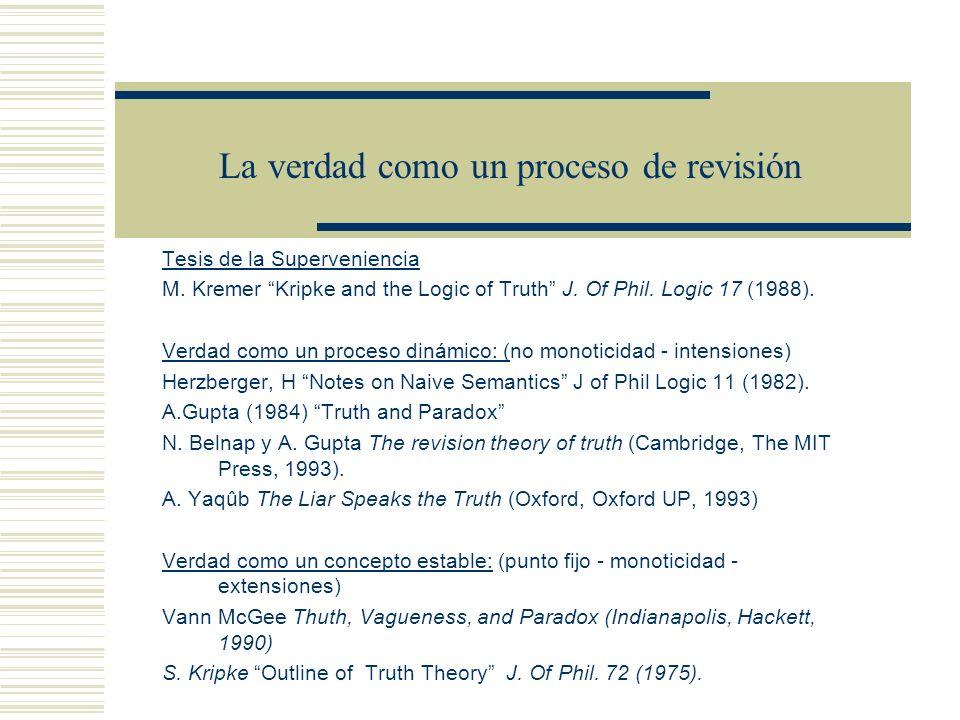 La verdad como un proceso de revisión