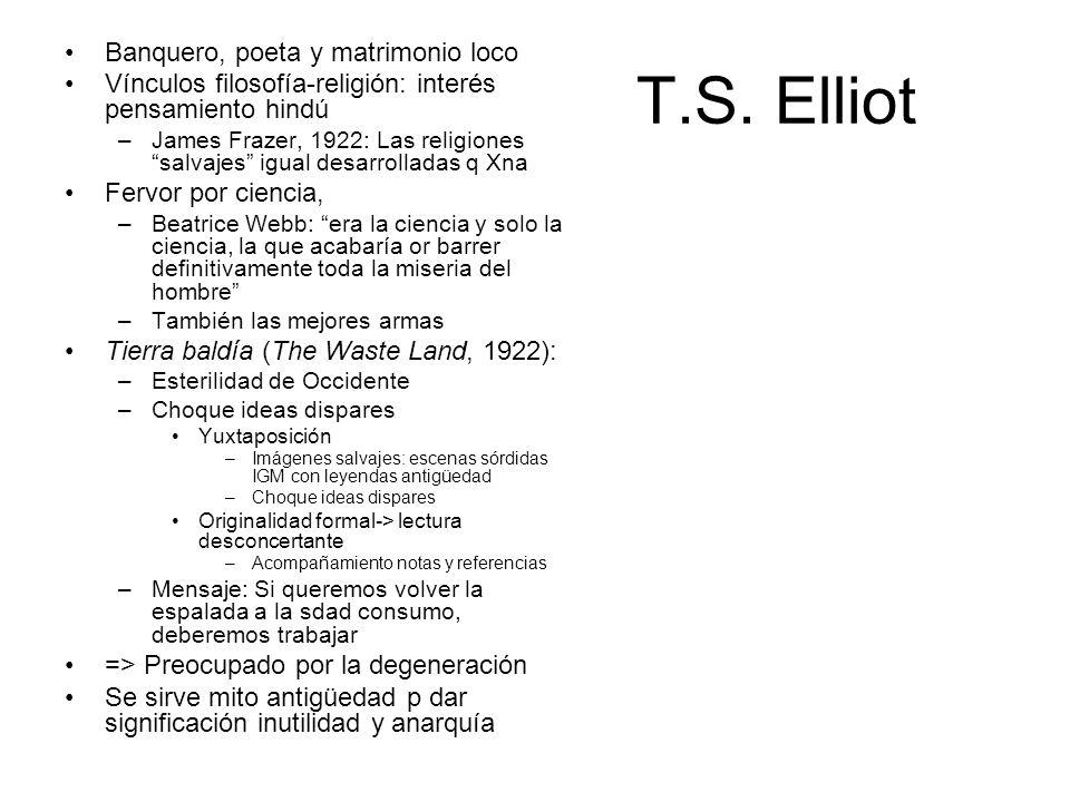 T.S. Elliot Banquero, poeta y matrimonio loco