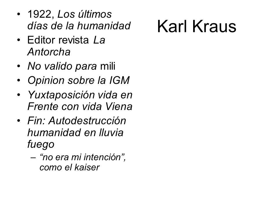 Karl Kraus 1922, Los últimos días de la humanidad