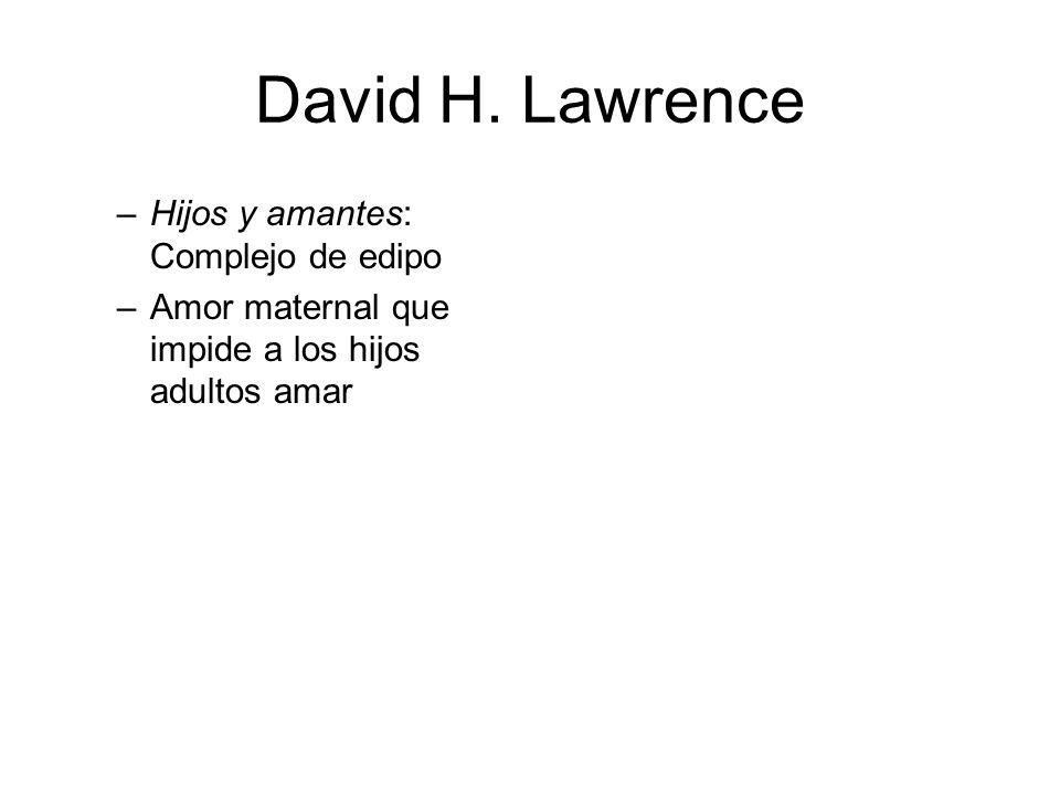 David H. Lawrence Hijos y amantes: Complejo de edipo