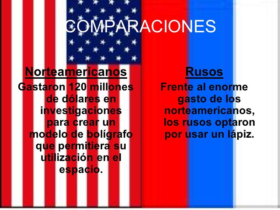 COMPARACIONES Norteamericanos Rusos