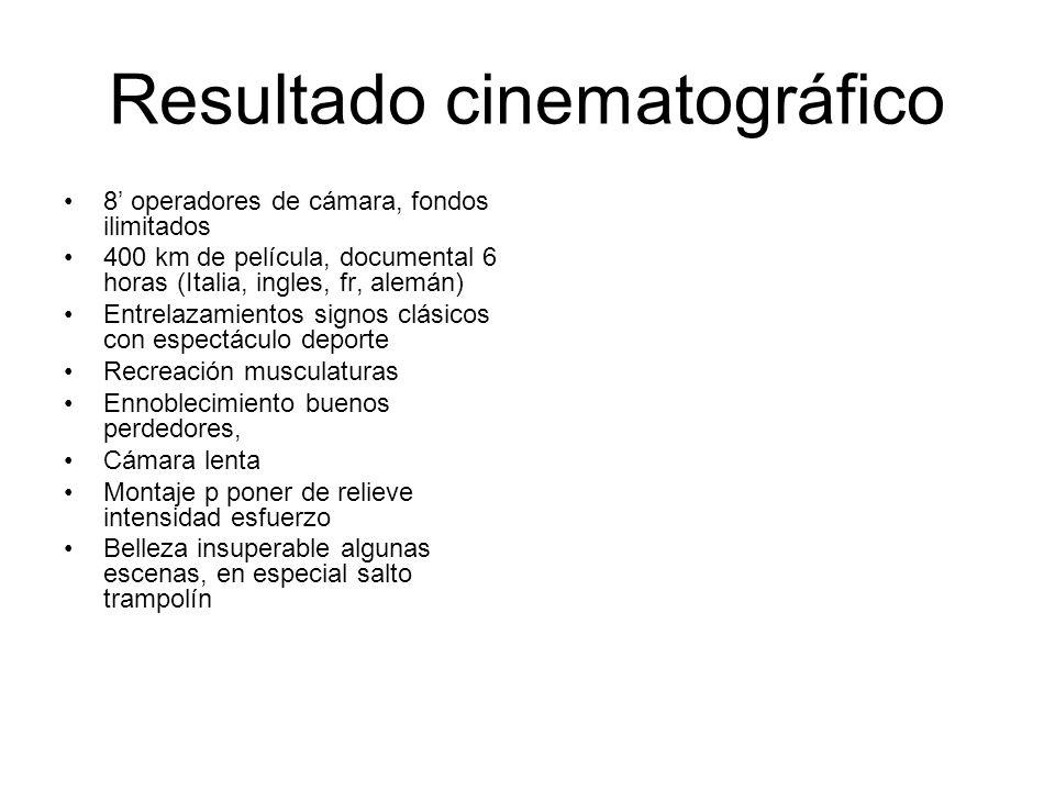 Resultado cinematográfico