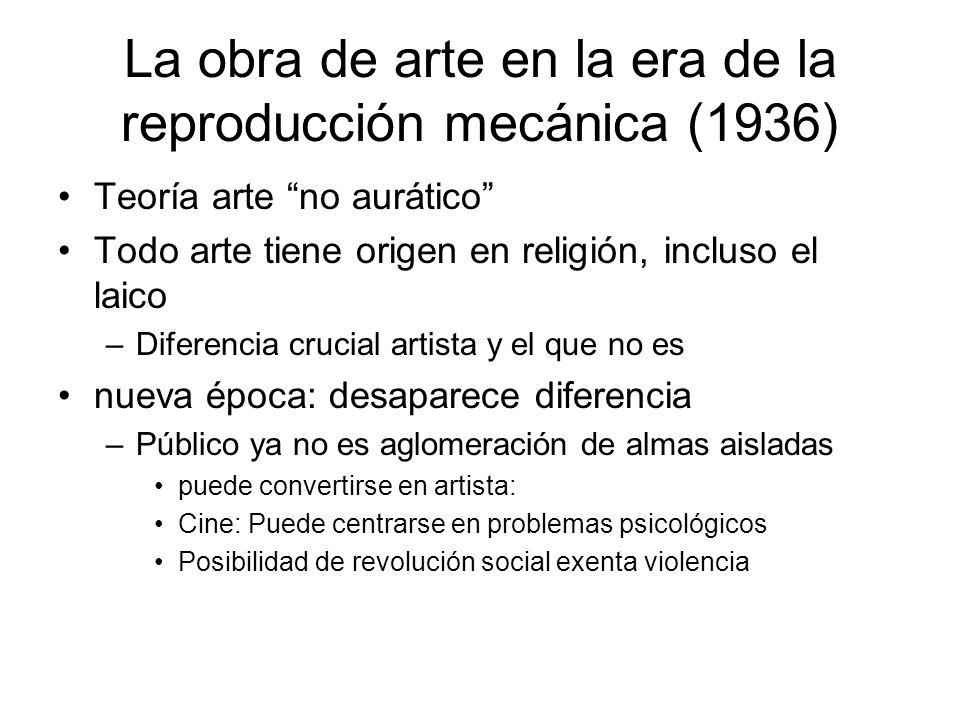 La obra de arte en la era de la reproducción mecánica (1936)