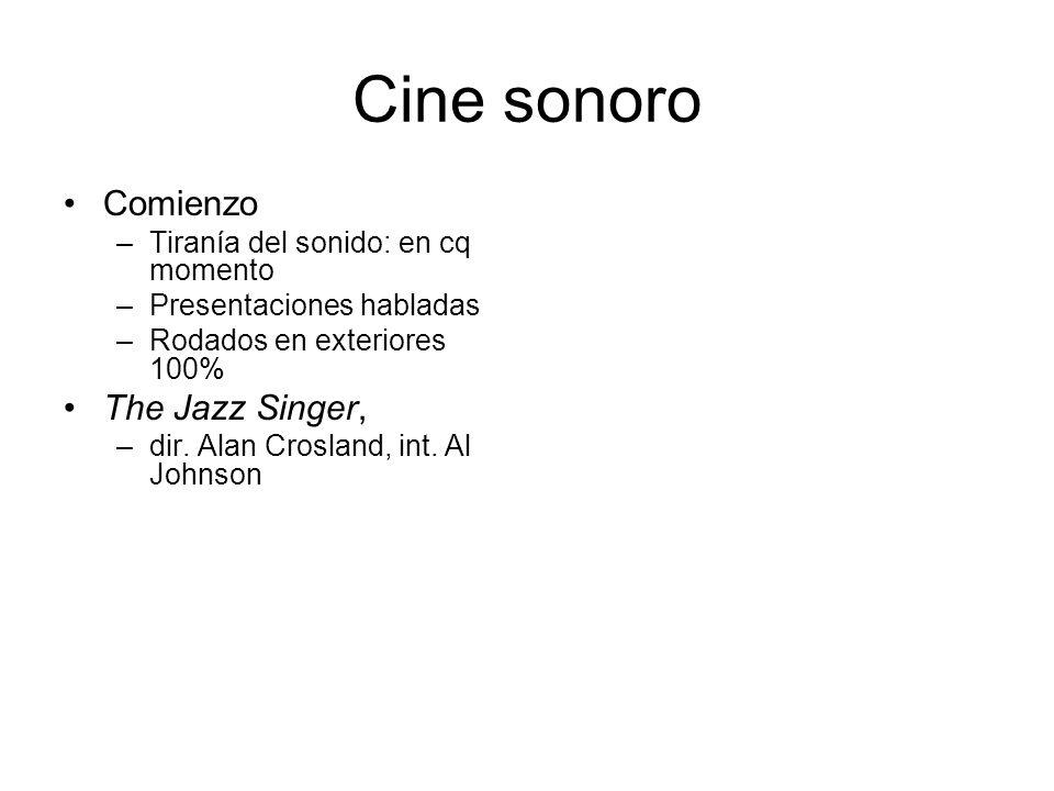 Cine sonoro Comienzo The Jazz Singer,