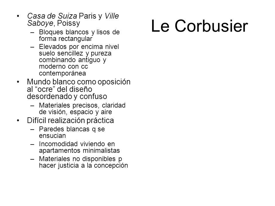 Le Corbusier Casa de Suiza Paris y Ville Saboye, Poissy