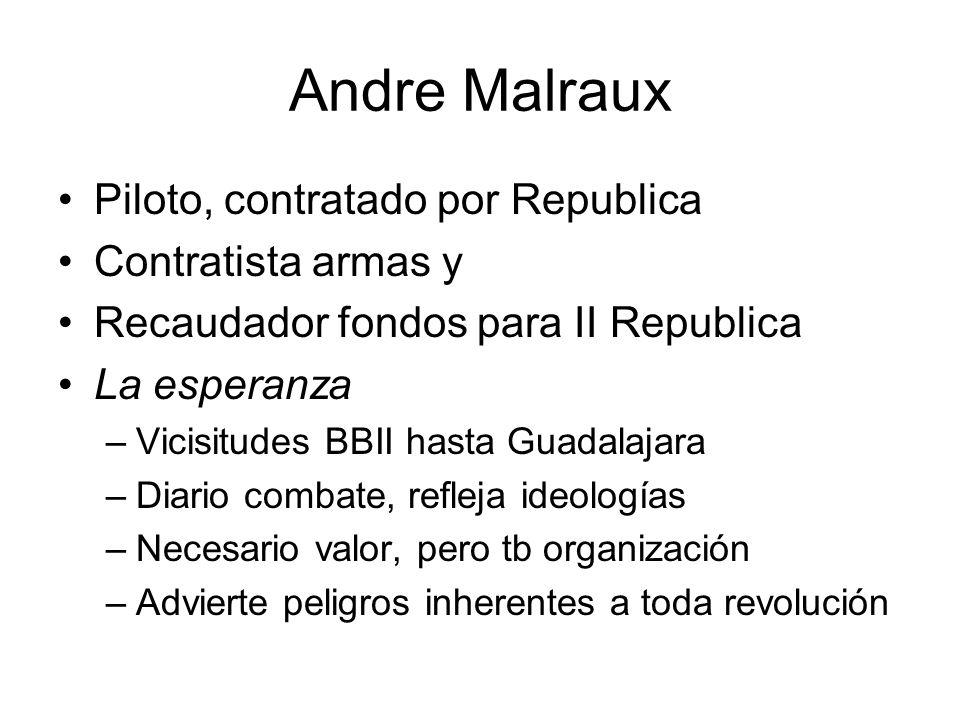 Andre Malraux Piloto, contratado por Republica Contratista armas y