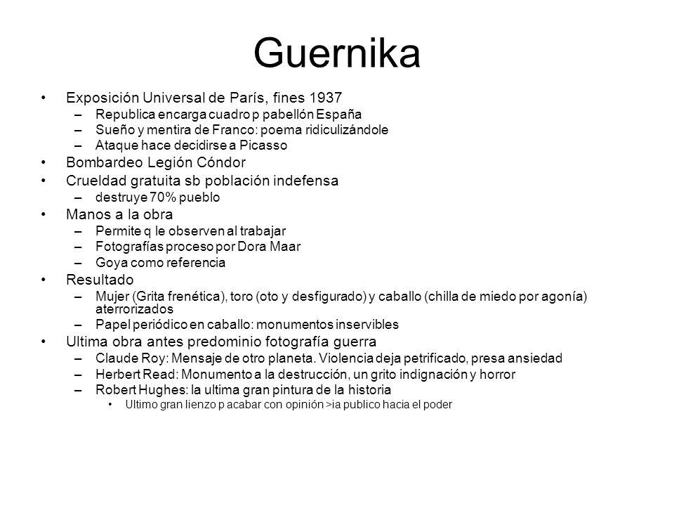 Guernika Exposición Universal de París, fines 1937