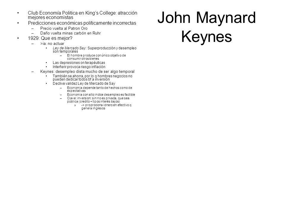Club Economía Politica en King's College: atracción mejores economistas