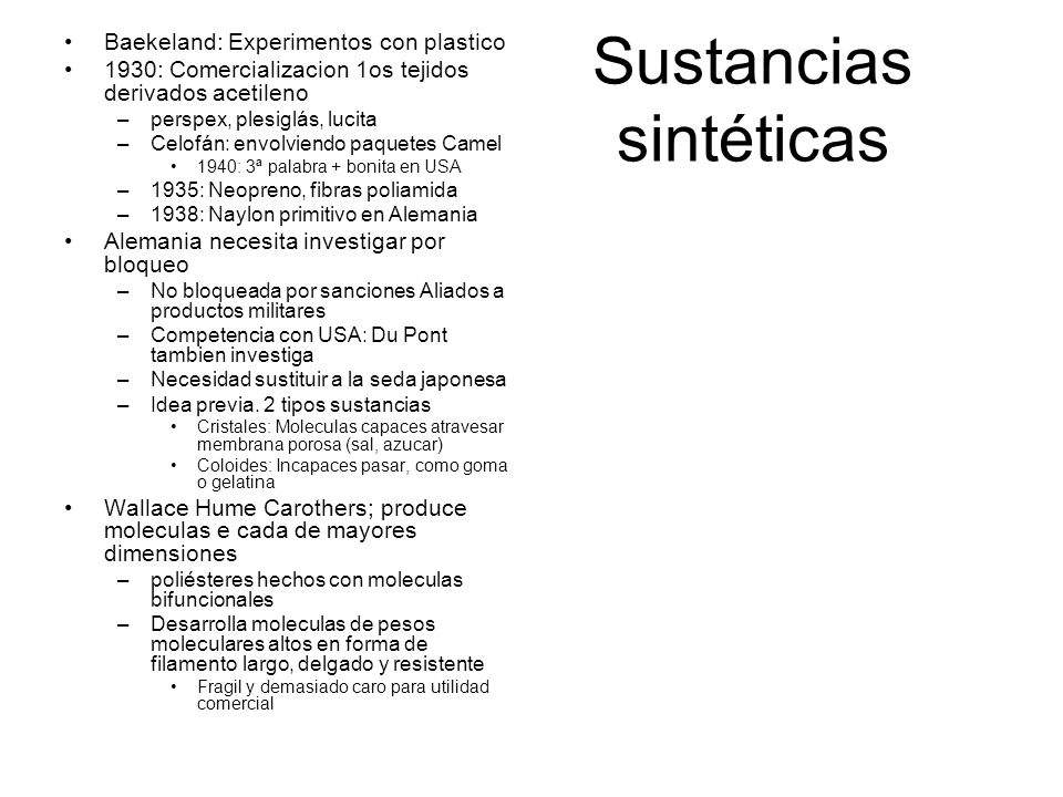 Sustancias sintéticas