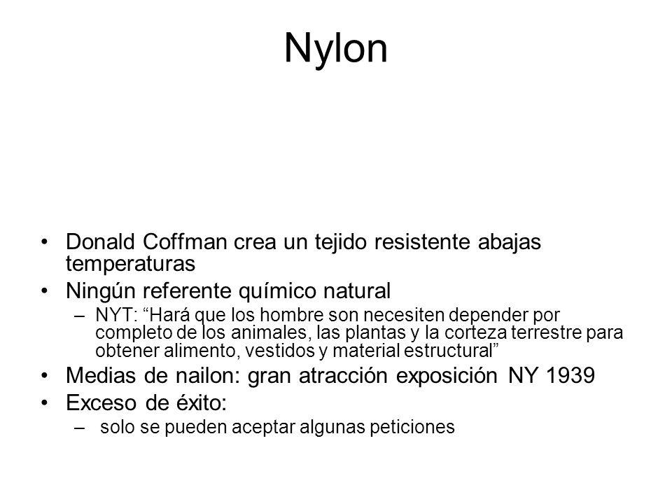 Nylon Donald Coffman crea un tejido resistente abajas temperaturas