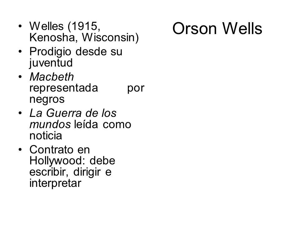 Orson Wells Welles (1915, Kenosha, Wisconsin)