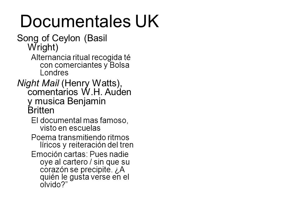 Documentales UK Song of Ceylon (Basil Wright)