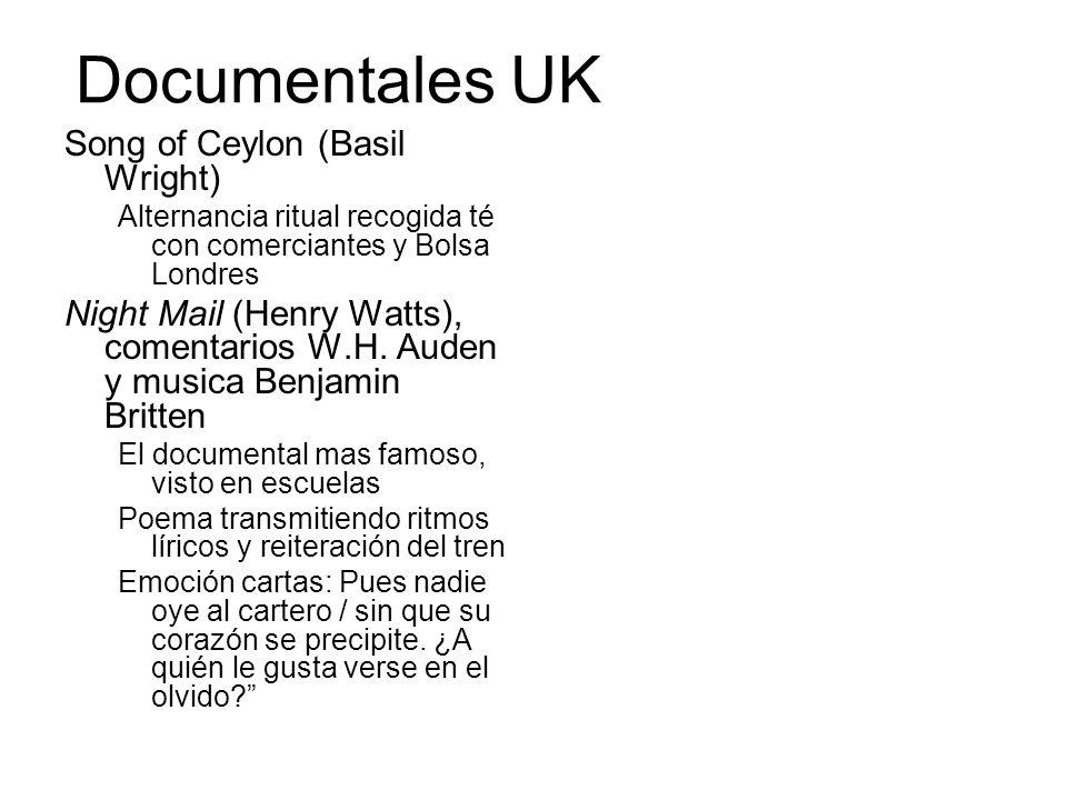 Documentales UK Song of Ceylon (Basil Wright)