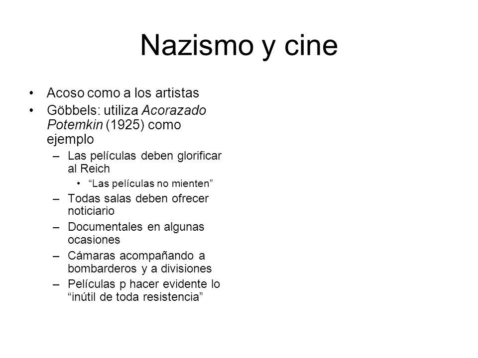 Nazismo y cine Acoso como a los artistas
