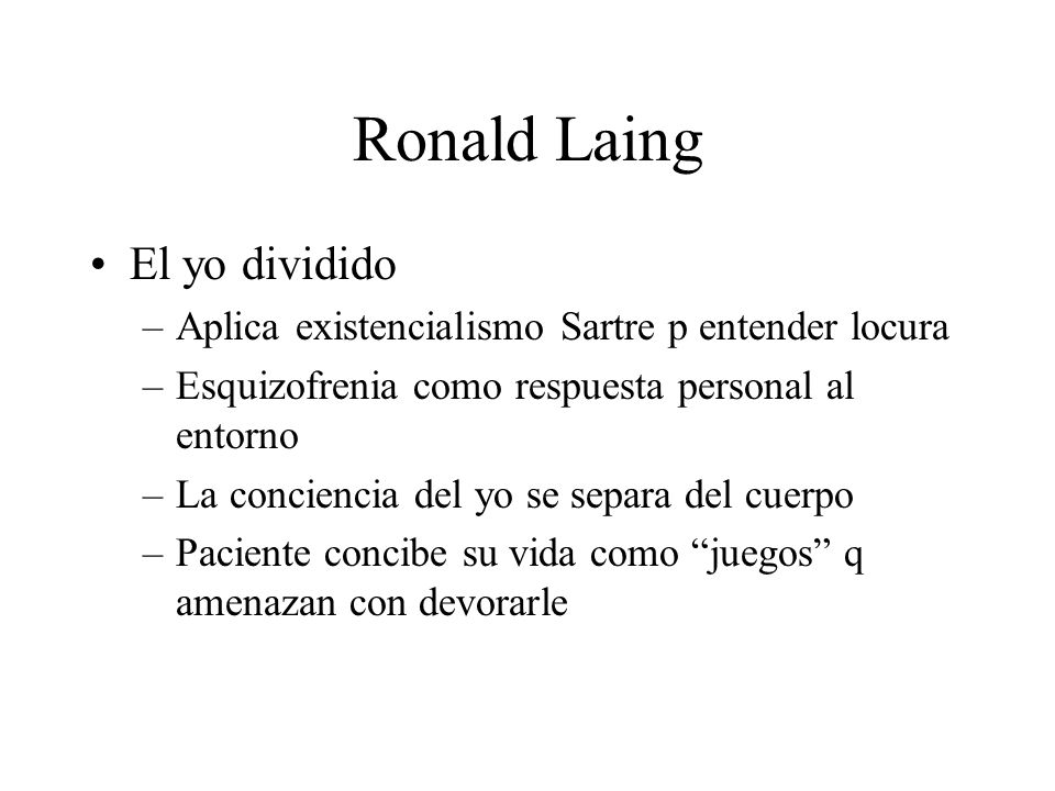 Ronald Laing El yo dividido