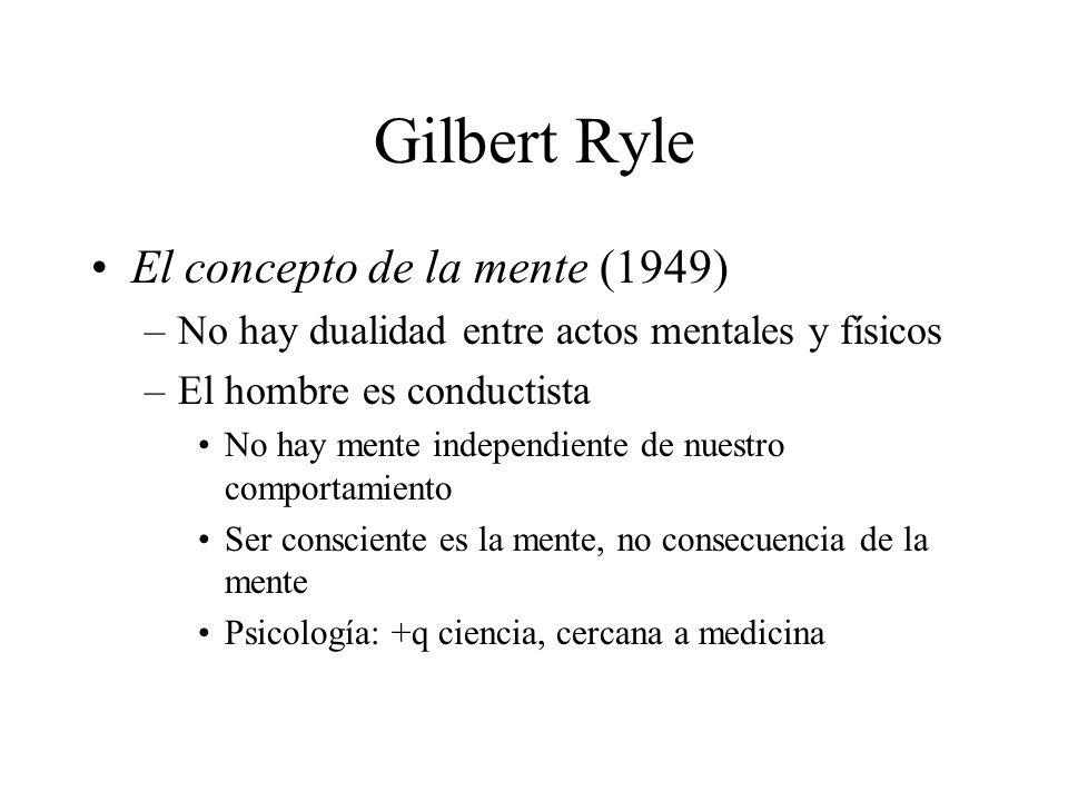 Gilbert Ryle El concepto de la mente (1949)