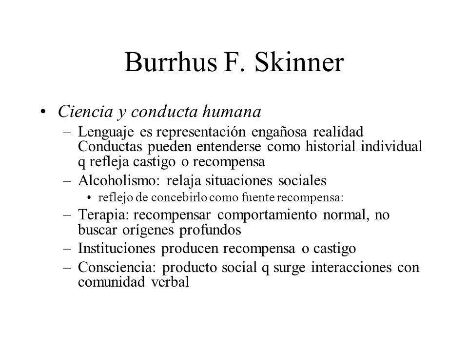 Burrhus F. Skinner Ciencia y conducta humana