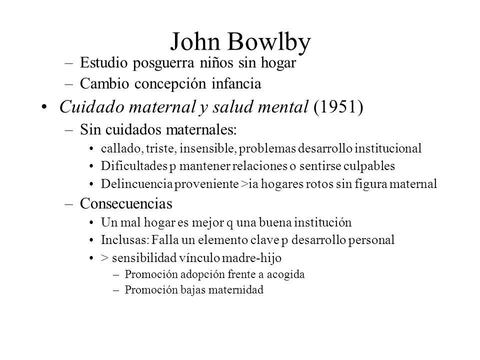 John Bowlby Cuidado maternal y salud mental (1951)