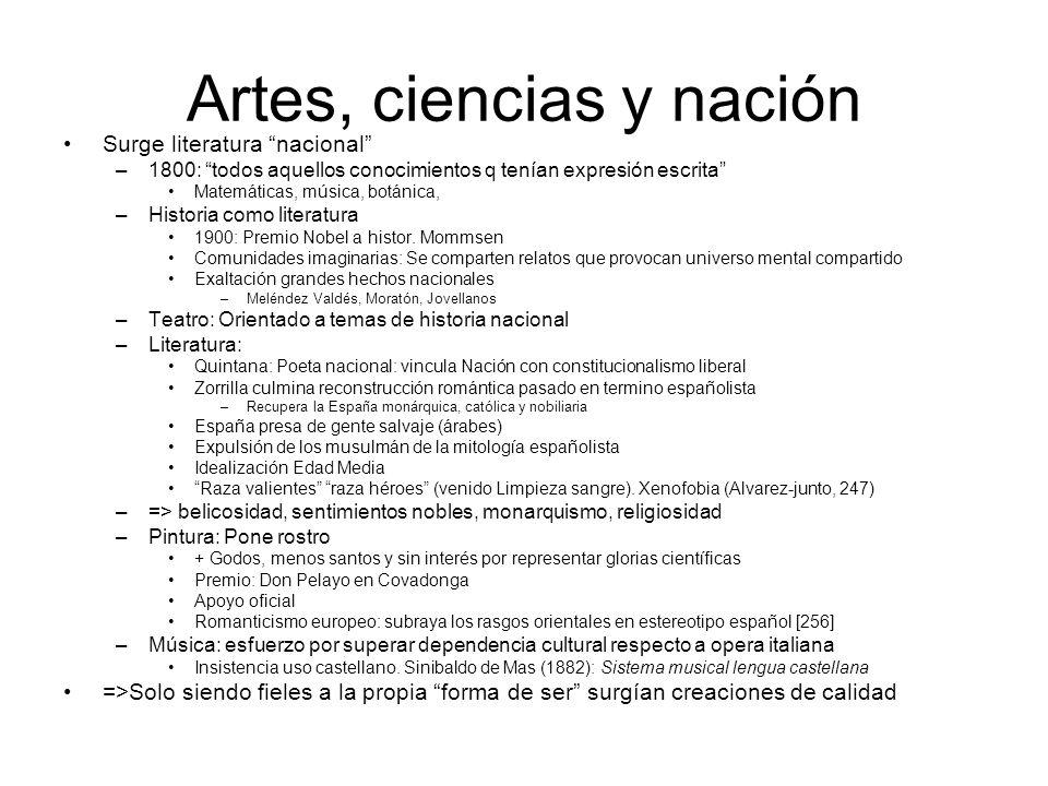 Artes, ciencias y nación