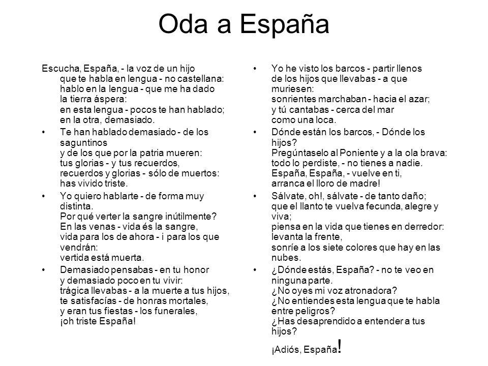 Oda a España