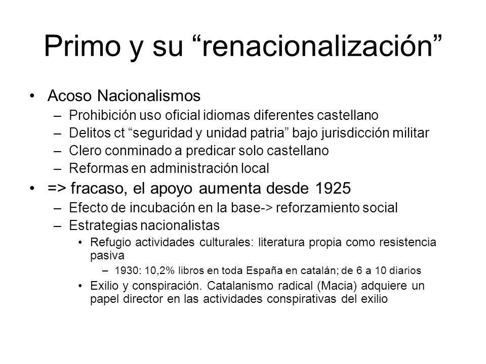 Primo y su renacionalización