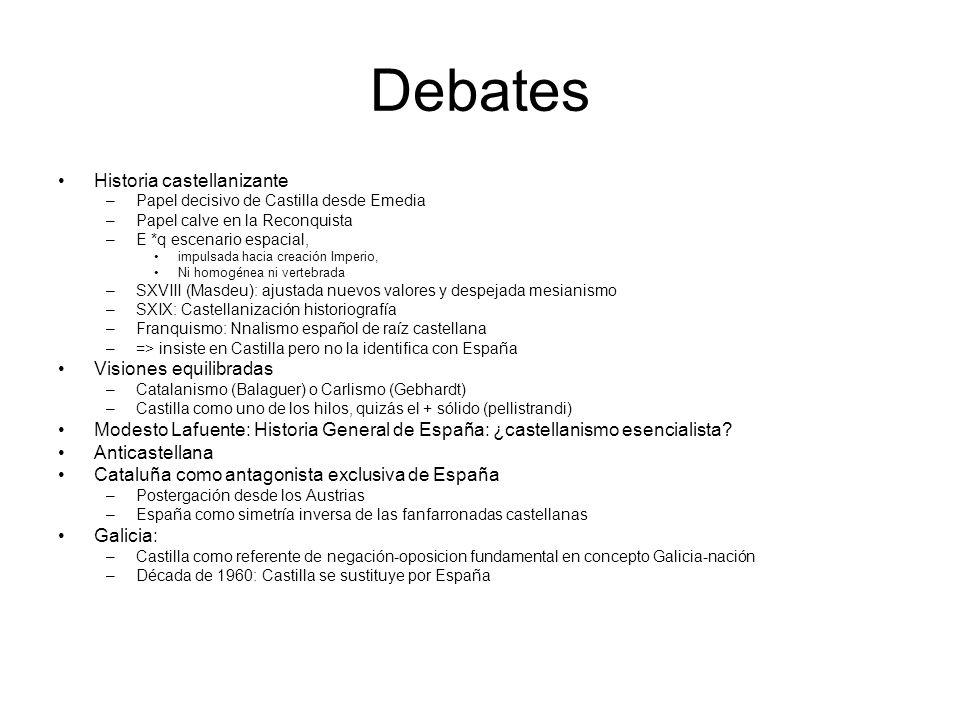 Debates Historia castellanizante Visiones equilibradas