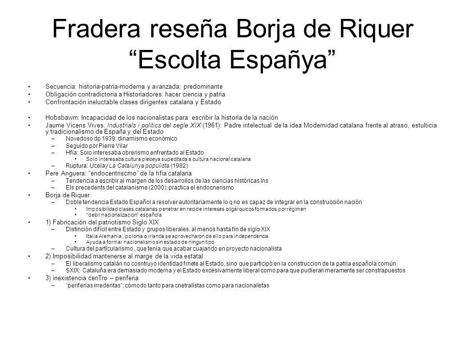 Fradera reseña Borja de Riquer Escolta Españya