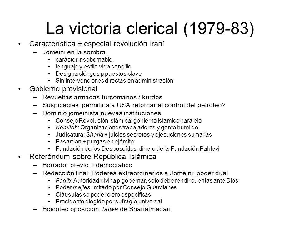 La victoria clerical (1979-83)
