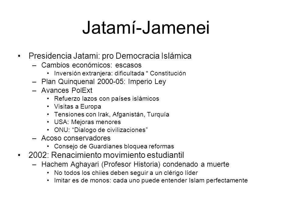 Jatamí-Jamenei Presidencia Jatami: pro Democracia Islámica
