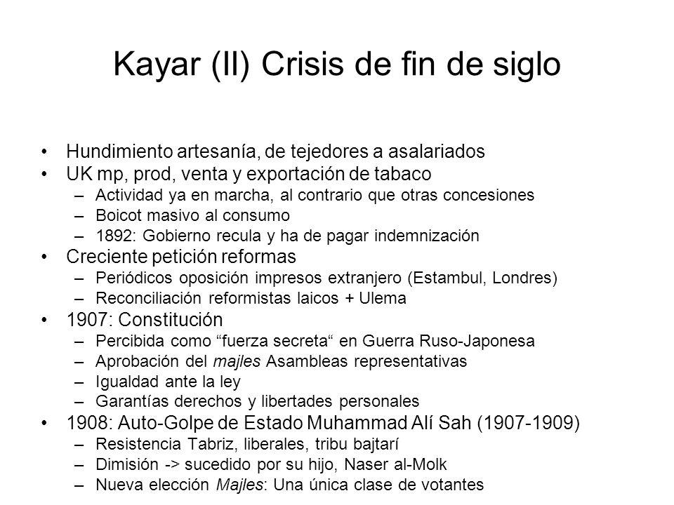 Kayar (II) Crisis de fin de siglo